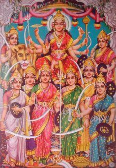 Navdurga - the nine forms of Durga Ma, worshipped during Navratri