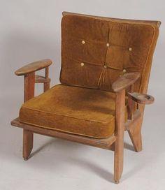 Robert GUILLERME (1913-1990) et Jacques CHAMBRON (1914-2001) Un fauteuil