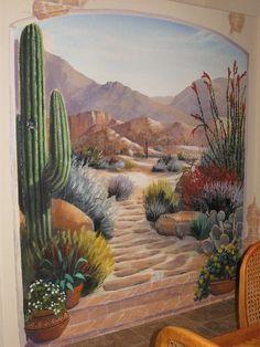 1000 images about all things desert on pinterest for Desert wall mural