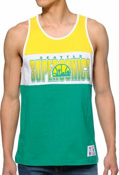 NBA Mitchell and Ness Seattle Sonics Tank Top Sports Team Apparel 7532f19cd