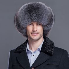 """HOT PRICES FROM ALI - Buy """"New male winter warm hats genuine fox fur bomber hat fox fur protection ear cap genuine leather raccoon fur cap men caps for only USD. Ear Cap, Fur Bomber, Mens Caps, Cool Things To Buy, Stuff To Buy, Fox Fur, Winter Hats, Warm, Leather"""