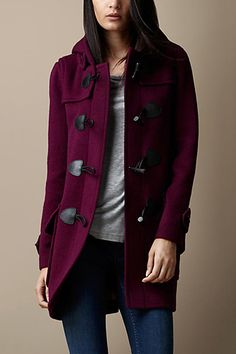 21 Cool Coats That Are Actually Warm #refinery29 Burberry Brit Wool Fitted Duffle Coat, $995, available at Burberry.