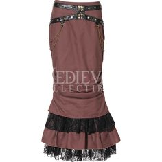 Long Steampunk Trumpet Skirt - RL-SP145 by Medieval Collectibles