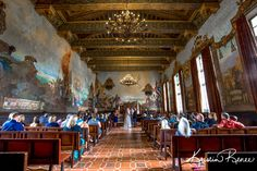 Jennifer and Chris- Santa Barbara Courthouse Mural Room Wedding Photos #santabarbara #weddings