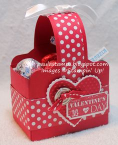 Valentines Two Tags Basket..Stamps: Take a Ticket  Big Shot...By:Stampin' with Paula: