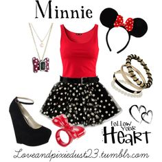 """Minnie Mouse"" by loveandpixiedust on Polyvore"