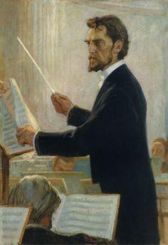 Edelfelt, Albert   Kapellimestari Robert Kajanuksen Muotokuva (1905)