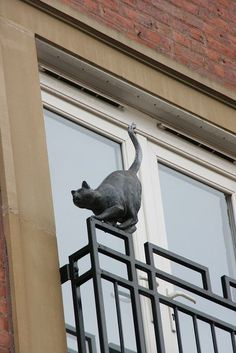 """One of the """"Cats of York"""" ~~ would love to see them. Animal Sculptures, Sculpture Art, Crazy Cat Lady, Crazy Cats, Cat Statue, Photo Chat, B 13, Oeuvre D'art, Cool Cats"""