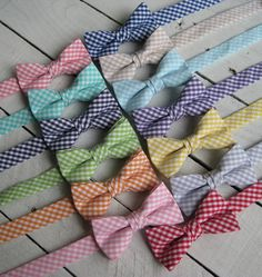 Boys Gingham Bow Tie~Boys Bow Tie~Coral Bow Tie~Mint Bow Tie~Purple Bow Tie~Orange Bow Tie~Red Bow Tie~Nautical Bow Tie~Gray Bow Tie~Cotton - pinned by pin4etsy.com