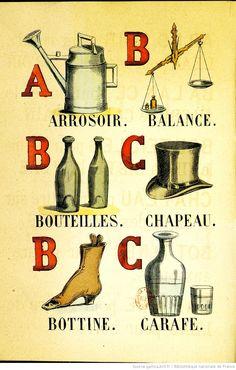 Alphabet illustré des objets familiers 1873