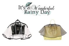 """Save my bag in the rain"" by petitestyling-over-forty on Polyvore featuring Handbag Raincoat"