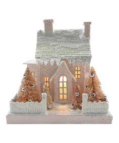 Take a look at this Pink Ivory Cottage Light-Up Figurine by KD Vintage on today! Christmas Village Houses, Christmas Town, Putz Houses, Christmas Villages, Cottage Lighting, Paper Houses, Cardboard Houses, Pink Bottle, Glitter Houses