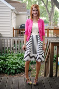Breakfast at Gigi's: Hot Pink, Stripes & Florals
