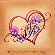 Heart Tattoo With Initials Inside <b>initials</b>, my mom and mom on pinterest