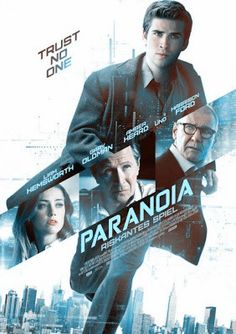 Paranoia Movie Film 2013--Liam Hemsworth, Gary Oldman, Josh Holloway, Harrison Ford, and Richard Dreyfuss all in one little movie....of course it is awesome :)