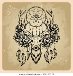 Dream catcher Clip Art and Stock Illustrations. Dream catcher EPS illustrations and vector clip art graphics available to search from thousands of royalty free stock art creators. Dream Catcher Drawing, Dream Catcher Tattoo, Dream Catchers, Pretty Tattoos, Beautiful Tattoos, Cool Tattoos, Tigh Tattoo, Antler Tattoos, Hirsch Tattoo