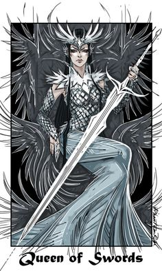 Tarot - Queen of Swords