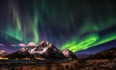 Aurora Borealis above Mt. Stornappstinden by steinliland Aurora Borealis, Northern Lights, Sky, Explore, Nature, Travel, Beautiful, Voyage, Heaven