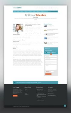 HealthPress - Health and Medical WordPress Theme clinic, dentist, doctor, health, health blog, health care, Health Club, hospital, medical, medicine, patient, professional, surgeon, treatment HealthPress is a premium WordPress theme for Health and Medical websites and blogs. It is a most suitable theme for doctors, dentists, hospitals, health clinics, surgeons and other type of health and medical related websites. It has attractive design, re...