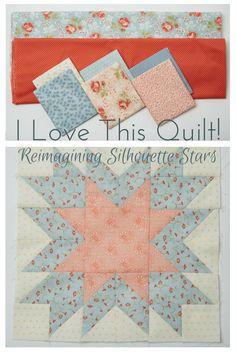 And, sometimes we remake a quilt just to find a way to use them. Erin Russek takes Gerri Robinson's Silhouette Stars and reimagines it to accommodate her fat quarter stash. Lone Star Quilt, Star Quilt Blocks, Star Quilt Patterns, Star Quilts, Pattern Blocks, Fat Quarter Quilt, Quilt Tutorials, Fat Quarters, Fabric Scraps