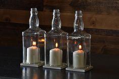 Glass Hurricane Candle Centerpiece