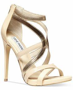 21ce0c18b9c Steve Madden Women s Stella Sandals - Sandals - Shoes - Macy s Gold  Sandals