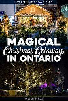 Looking for a Christmas getaway? Check out these fabulous options in Toronto, Waterloo, Niagara Falls and more! They're guaranteed to put you in the festive spirit! Christmas Getaways, Christmas Travel, Holiday Travel, Christmas Events, Christmas Vacation, Cool Places To Visit, Places To Travel, Places To Go, Europe Destinations