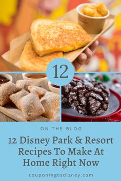 12 Disney Park  Resort Recipes To Make At Home Right Now Disney Desserts, Disney Recipes, Disney Food, No Bake Desserts, Cream Cheese Spreads, Cream Cheese Filling, Food Park, Popular Recipes, Copycat Recipes