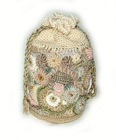 Evening Tote - freeform crochet bag - view 3 | Flickr – Condivisione di foto!