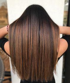 Shimmering Brown Balayage Highlights