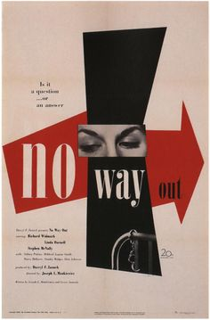 No Way Out posters for sale online. Buy No Way Out movie posters from Movie Poster Shop. We're your movie poster source for new releases and vintage movie posters. Modern Graphic Design, Graphic Design Typography, Graphic Design Inspiration, Herb Lubalin, Design Graphique, Art Graphique, Gfx Design, Design Art, Designers Gráficos