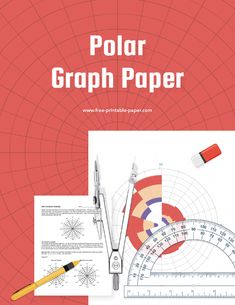 Printable polar graph paper ready to be used by anyone who wants to calculate polar coordinates. #polar #coordinates #graph #printable