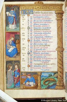 Book of Hours, MS H.5 fol. 5v - Images from Medieval and Renaissance Manuscripts - The Morgan Library & Museum