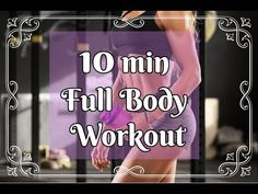 10 MIN FULL BODY WORKOUT/NO EQUIPMENT/PILATES - YouTube Full Body Workout No Equipment, Fitness Pics, Workout Pictures, Pilates, Youtube, Youtubers, Pilates Workout
