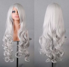 Pastel Wig Silver White Wig Lolita Anime Wig by BeautyActionWigs