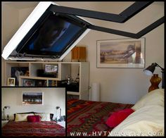 Hidden Vision Flip Around Tv Mount Picture Frame Hvtv Spinning