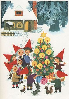 Felicitas Kuhn - Christmastime in Pixieland - Tree* 1500 free paper dolls toys at artist Arielle Gabriels The International Paper Doll Society Christmas gift for Pinterest pals also free China & Japan paper dolls The China Adventures of Arielle Gabriel Merry Christmas to Pinterest users *