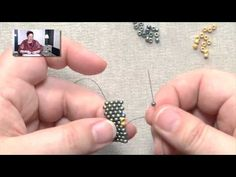 Beadweaving Basics: Peyote Increases on the Inside of a Row - YouTube