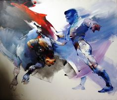 Braca Djurkovic - Painter - Official Website - Oil on Canvas Buffalo Art, Chinese Landscape Painting, Arabian Art, Horse Art, Animal Paintings, Art World, Cool Drawings, Art Inspo, Art Sketches