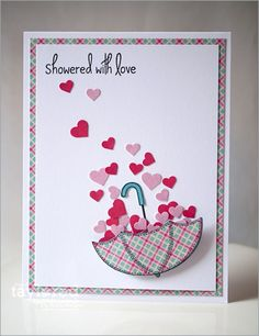 June SOTM Showered with Love Card by Regina Mangum  http://ow.ly/l2iTm #Cardmaking, #Stampofthemonth