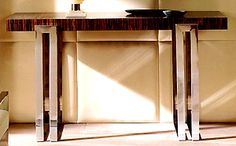 Console Tables - ARCHITECTURAL MACASSAR CONSOLE TABLE ART.172