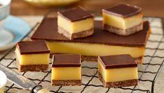au/recipes/show/dark-chocolate-caramel-slice Chocolate Caramel Slice, Chocolate Caramels, Homemade Caramel Recipes, Baking Recipes, Dessert Recipes, Delicious Desserts, Yummy Food, Chocolates, Bonbon