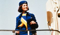 uniform, klm, vintage, stewardess, cabinattendent, airline, plane.  Is she from the seventy's?