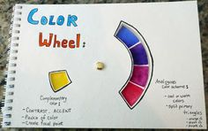 that artist woman: How to Make a Color Wheel for your Sketchbook this looks great, could prob cobble a template using an idial from somewhere...