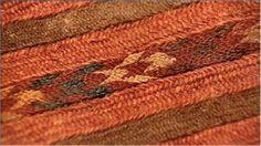 Woven fabric with mummies at Djoumboulak Koum in Taklamakan Desert showing great skill
