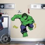 5 in. x 19 in. Classic Hulk Comic 19-Piece Peel and Stick Giant Wall Decal, Green