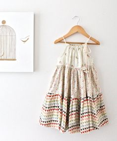 Toddler Girls Patchwork Twirl DressVintage Bunting by ChasingMini, $60.00 * wow so sweet!