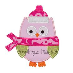 Applique Market Winter Owl