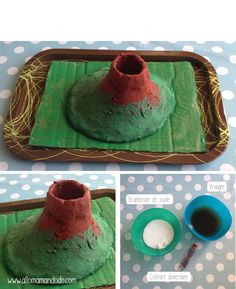 fabriquer un volcan Play School Activities, Infant Activities, Baby Activites, Science Experiments Kids, Science Projects, Science Diy, Volcan Eruption, Tapas, Diy For Kids