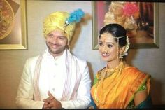 Ravish Desai weds Mugdha Chaphekar Kashta Saree, Sari, Marathi Saree, Beautiful Indian Brides, Nauvari Saree, Indian Celebrities, Loving U, Celebrity Weddings, Traditional